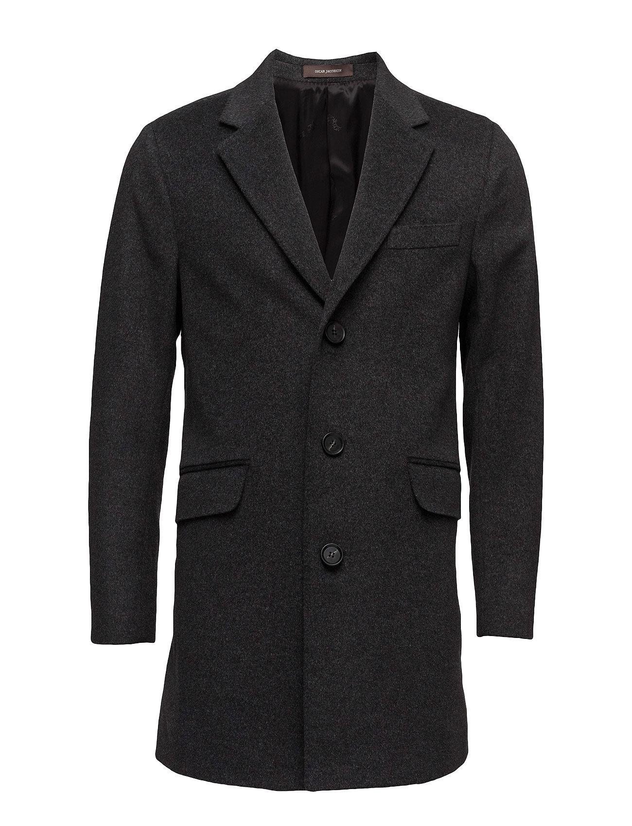 Oscar Jacobson Saks Coat - 110 - DARK GREY