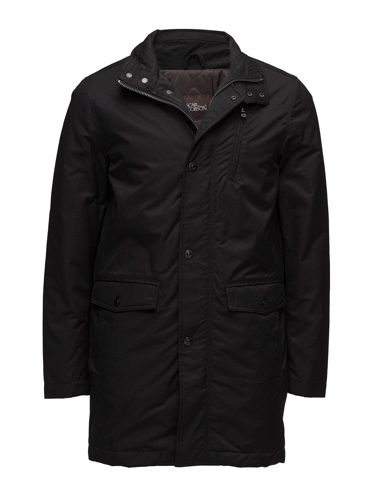 Oscar Jacobson Danton Coat - 310 - BLACK