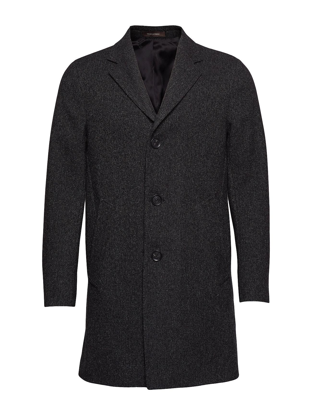 Oscar Jacobson Storvik Coat - 101 - BLACK GREY