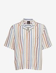 Oscar Jacobson - Hilmer reg shirt - oxford shirts - snow white - 0