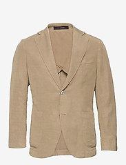 Oscar Jacobson - Ferry Patch Blazer - single breasted blazers - beige - 0