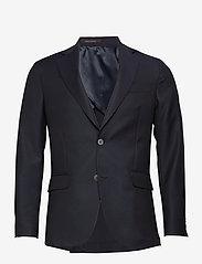 Oscar Jacobson - Egel Soft Blazer - single breasted blazers - navy - 0
