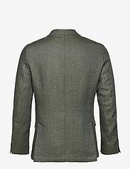 Oscar Jacobson - Egel Soft Blazer - single breasted blazers - green leaf - 1