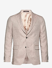 Oscar Jacobson - Egel Soft Blazer - single breasted blazers - light beige - 0