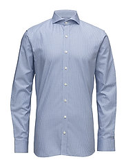 Herman slim shirt - 234 - CIKORIA BLUE