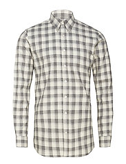Henning slim shirt - 150 - GREY MELANGE