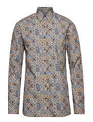 Henning 2 slim shirt wash - 273 - CLOUDY BLUE