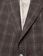 Oscar Jacobson - Fogerty Blazer - single breasted blazers - brown - 2