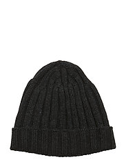 Knitted Hat - 101 - BLACK GREY