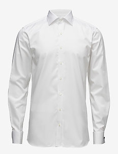 Hawk slim shirt double cuff - business-paidat - 921 - white