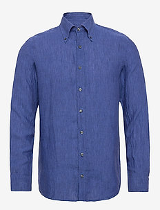 Harry 3 slim shirt wash - puuvillapaidat - 258 - blue