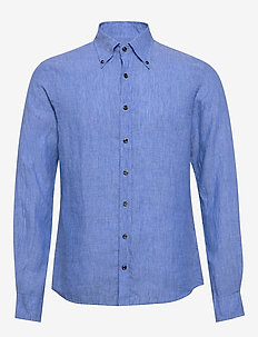 Harry 3 slim shirt wash - puuvillapaidat - 285 - caribbean blue