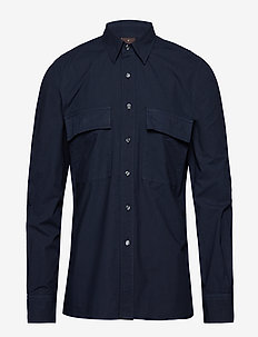 Haidar reg shirt wash - 217 - NAVY