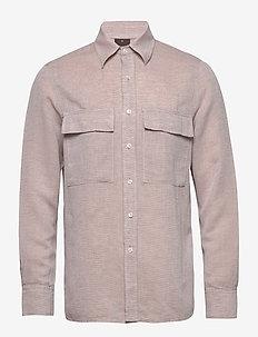 Haidar reg shirt wash - basic skjorter - 408 - sand beige