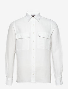 Haidar reg shirt wash - basic skjorter - 921 - white