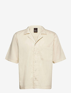 Hilmer reg shirt wash - overhemden korte mouwen - sand