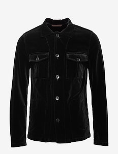Holger shirt Jacket - overshirts - 310 - black