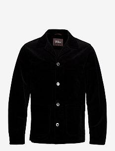 Hampus shirt Jacket - enkeltradede blazere - black