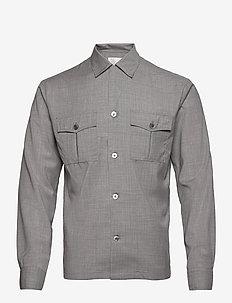 Henrik reg shirt - basic overhemden - 172 - light grey