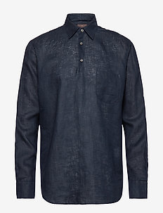 Hadi reg shirt wash - 222 - DARK BLUE