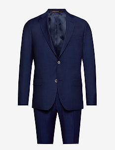 Edmund Suit - single breasted suits - 237 - blue print
