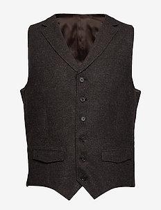 City Waistcoat - 509- DARK BROWN