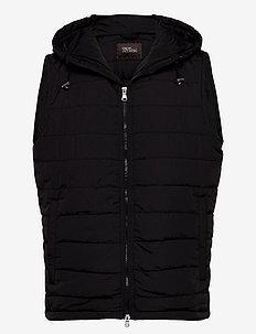 Liner Hood Waistcoat - veste - black