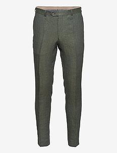 Denz Trousers - suit trousers - green leaf