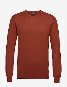 Custer Roundneck - basisstrikkeplagg - 605 - suede orange