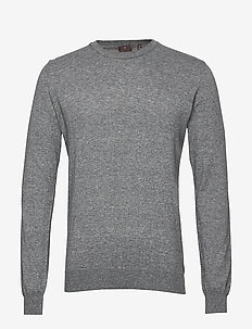 Custer Roundneck - perusneuleet - 119 - silver grey
