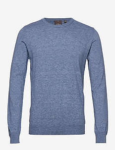 Custer Roundneck - basisstrikkeplagg - 271 - blue dust