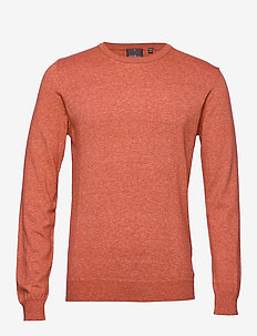 Custer Roundneck - basisstrikkeplagg - 646 - faded orange