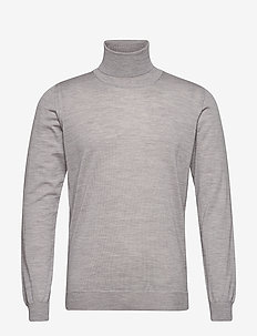 Cole Rollneck - basisstrikkeplagg - 172 - light grey