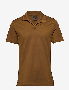 Barrey Poloshirt S/S - 587 - LEATHER BROWN