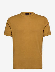Barth Roundneck S/S - basic t-shirts - yellow