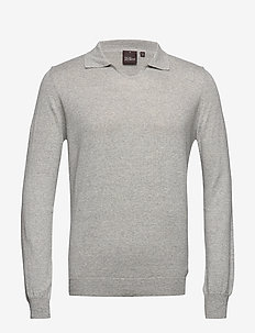 Oliwer V-neck - rund hals - 172 - light grey