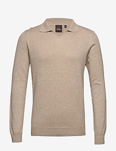 Oliwer V-neck - rundhals - 422 - beige