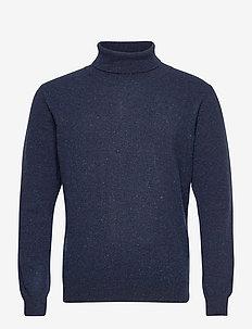 Franc Rollneck - tricots basiques - blue ocean