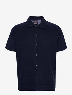 Albin Poloshirt S-S - koszule lniane - faded light blue