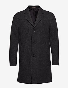 Storvik Coat - villakangastakit - 101 - black grey