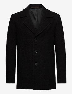 Pike Coat - manteaux de laine - black