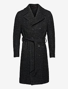 Christoph Coat - manteaux de laine - black