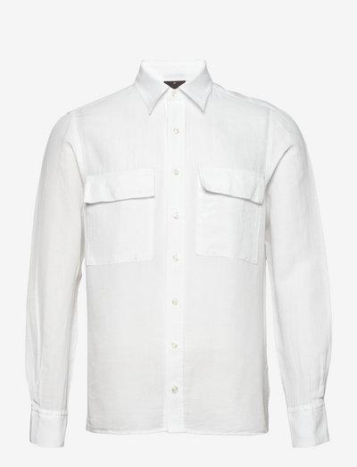Haidar reg shirt wash - basic shirts - 921 - white