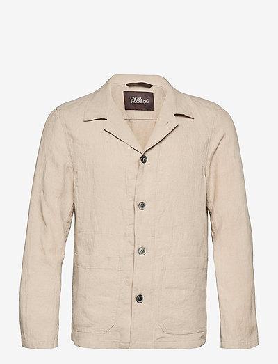 Hampus shirt Jacket - clothing - gräsull whi