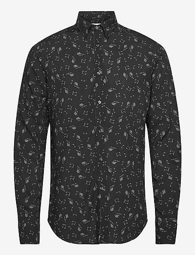 Hardy slim shirt - koszule w kratkę - black