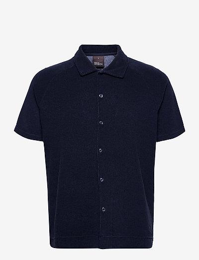 Albin Poloshirt S-S - chemises de lin - faded light blue
