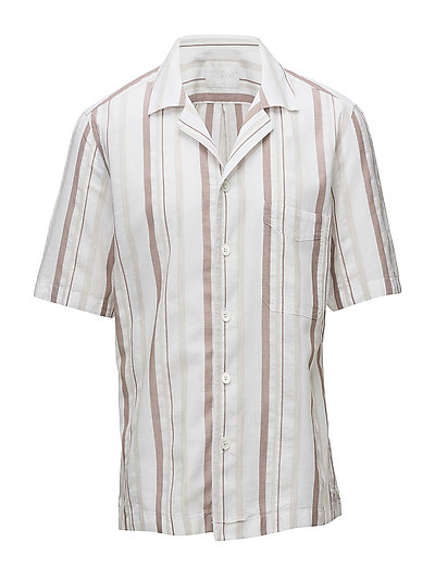 Hakon reg shirt wash - 477 - LIGHT BEIGE