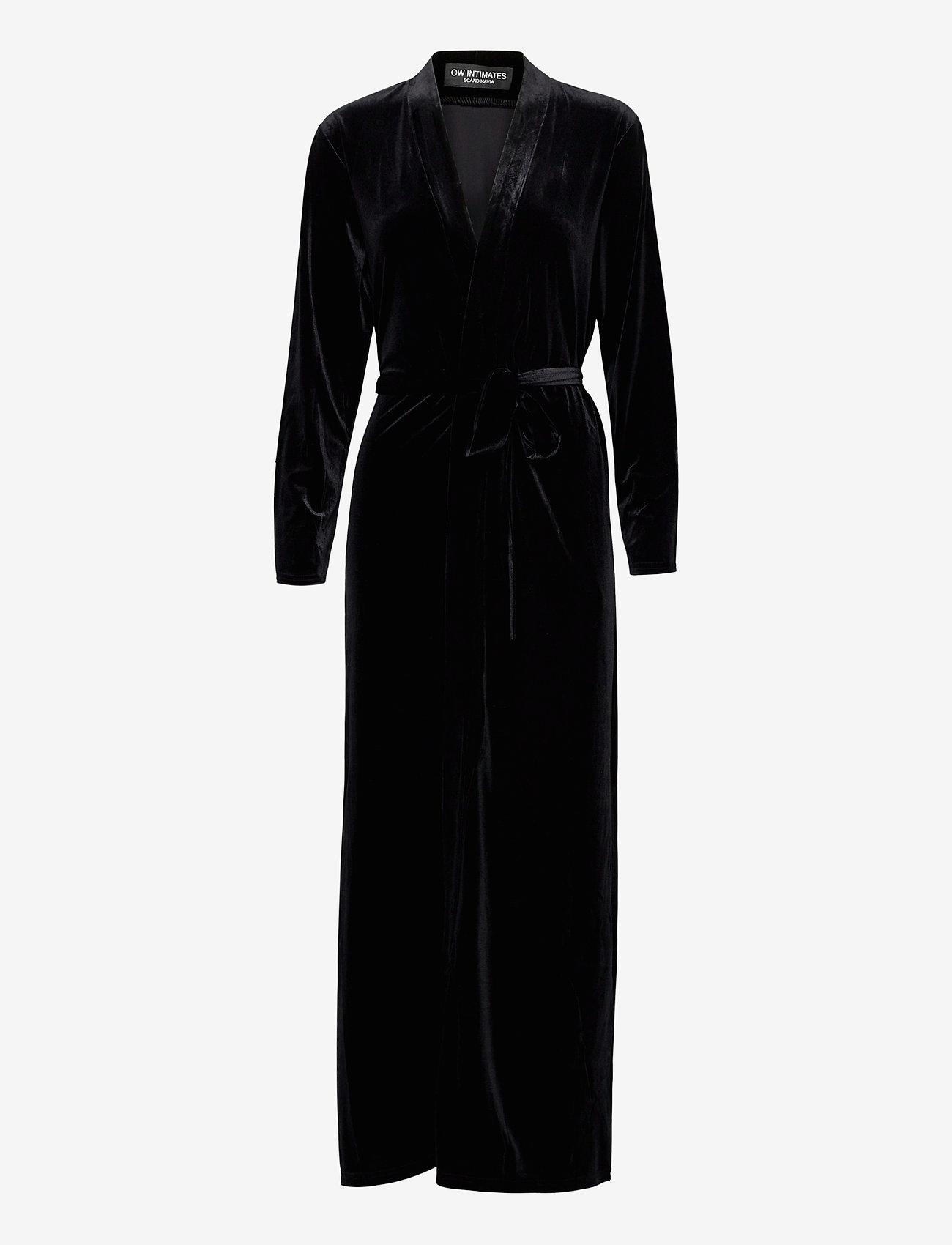 OW Intimates - KATRINA Robe - pegnoirs - black caviar - 0