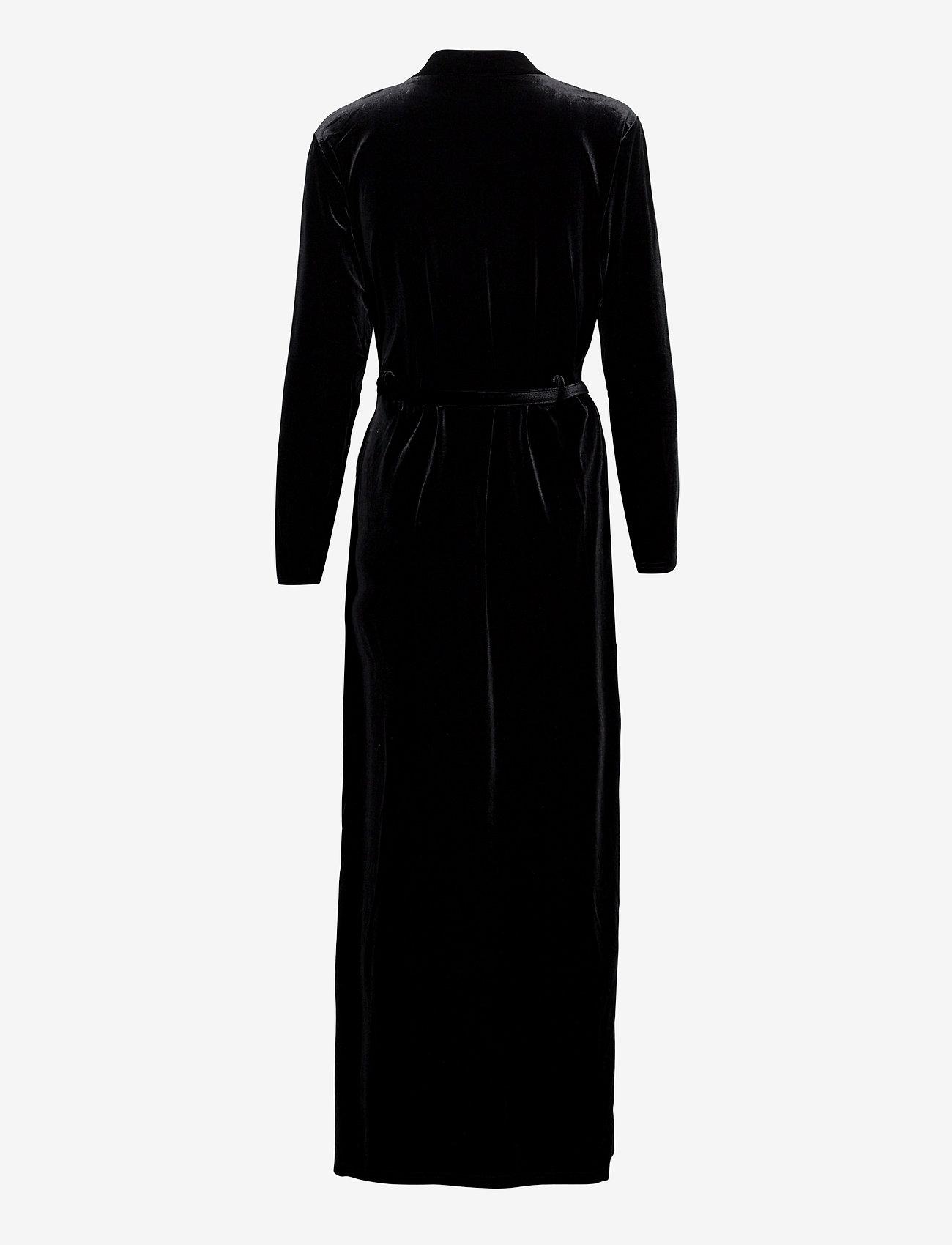 OW Intimates - KATRINA Robe - pegnoirs - black caviar - 1