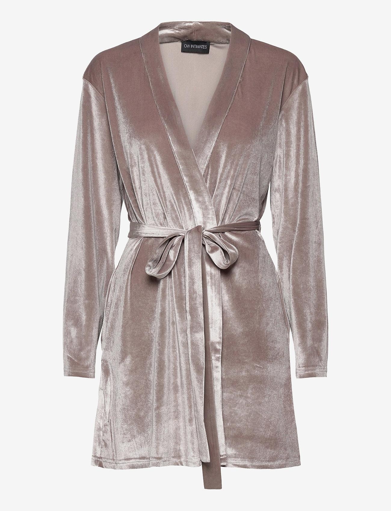 OW Intimates - KATRINA Short Robe - pegnoirs - grey - 1